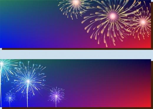 fireworks background sets sparkling decoration style