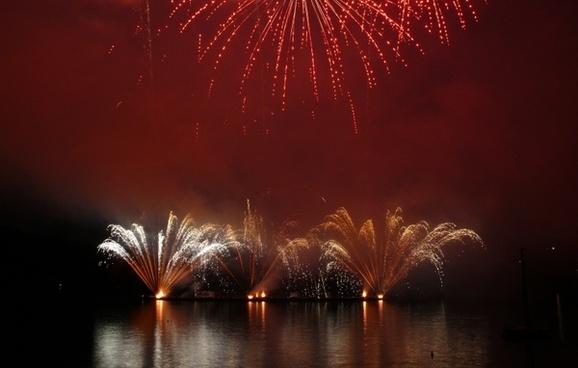 fireworks brno reservoir czech republic