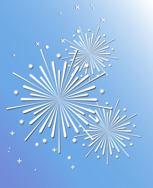 fireworks design elements white symbol decoration