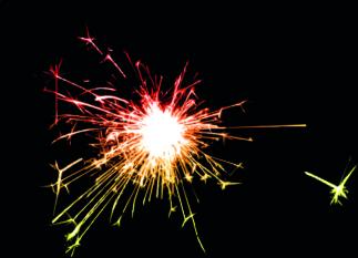 fireworks effect background vector