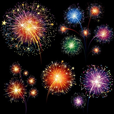 fireworks background modern colorful bursting decor
