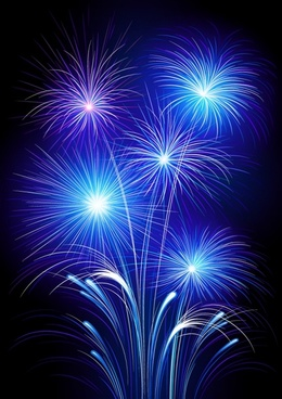 fireworks background twinkling dark blue explosion design