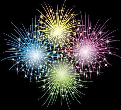 fireworks painting colorful sparkling explosion design