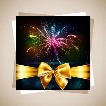 fireworks gift cards vector