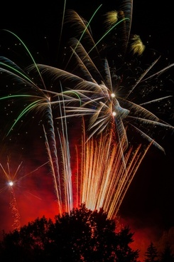 fireworks sky colorful