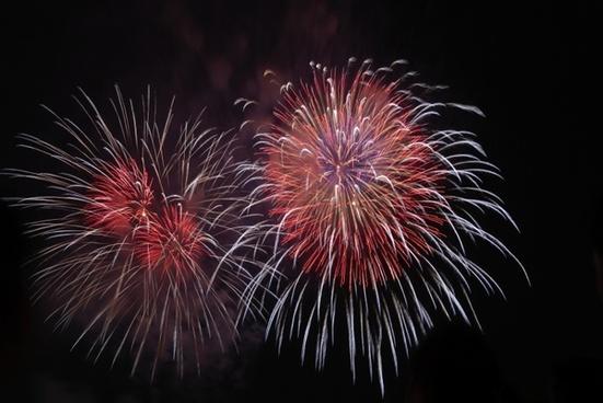 fireworks white red