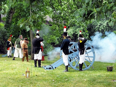 firing of cannons