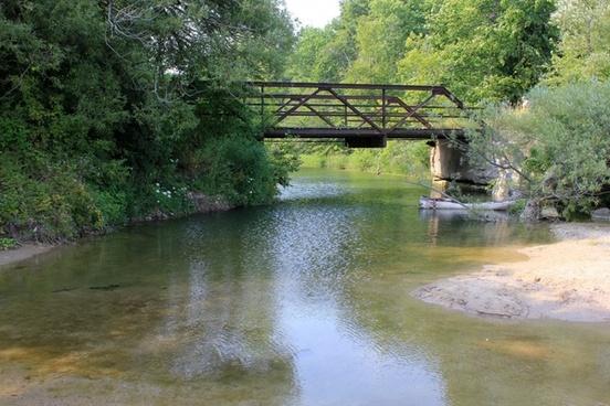 fischer creek from the bridge at fischer creek wisconsin