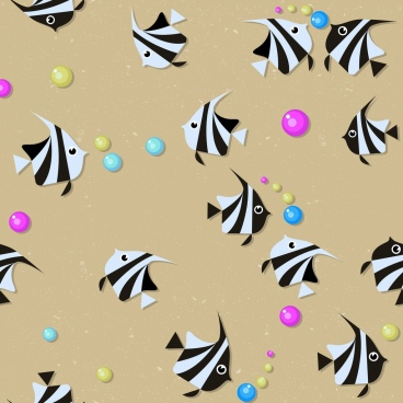 fish background colored flat repeating icons