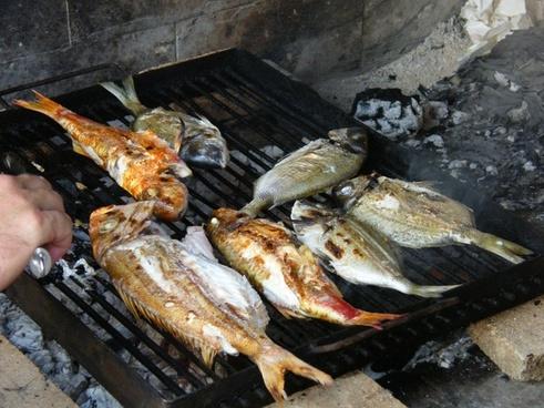 fish barbecue sea