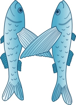 Fish forming letter M