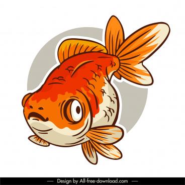 fish icon classic handdrawn sketch