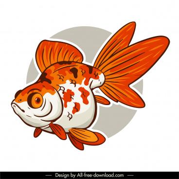 fish icon handdrawn sketch classic design