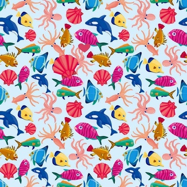 Fishes in The Sea Background