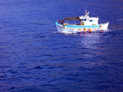 fishing boats sea greece
