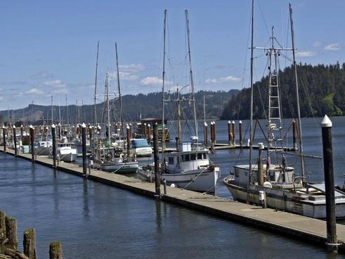 fishing boats water