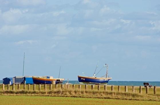 fishing boats wooden boats