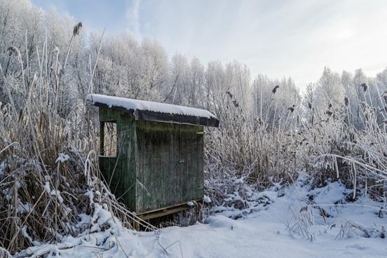 fishing hut winter fish