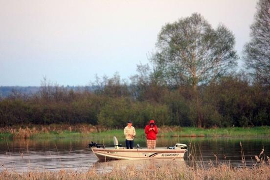 fishing in a boat in the upper peninsula michigan