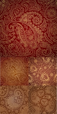 five gorgeous pattern vector
