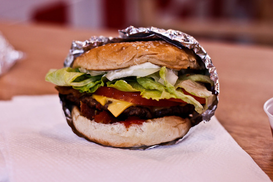 five guys little bacon cheeseburger