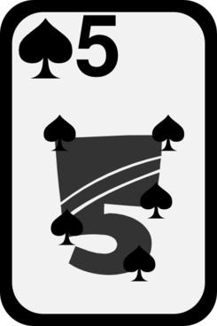 Five Of Spades clip art
