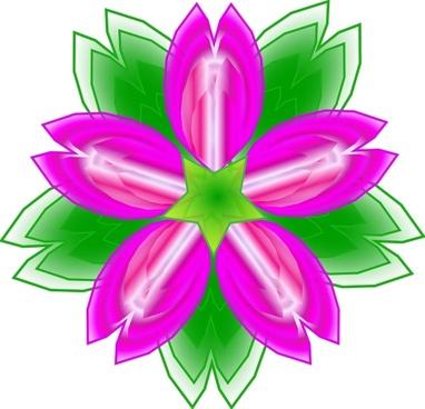 Five Petalled Flower clip art