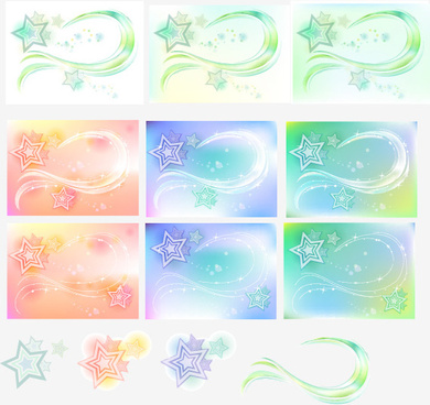 five pointed star arc background art vector