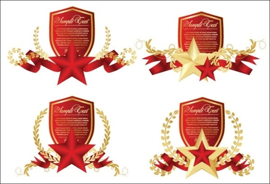 fivepointed star theme vector 5