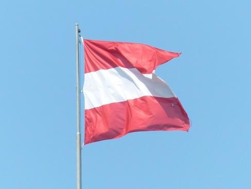 flag austria red
