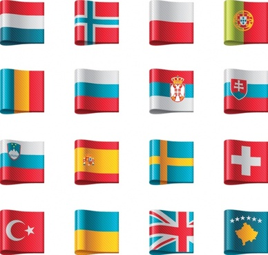 flag banner label icon vector