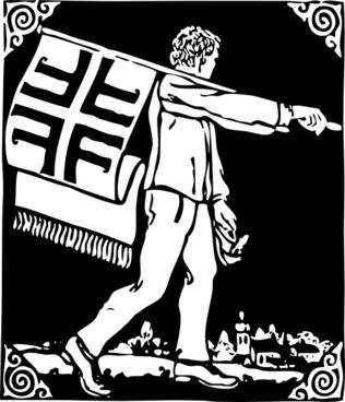 Flag Bearer clip art