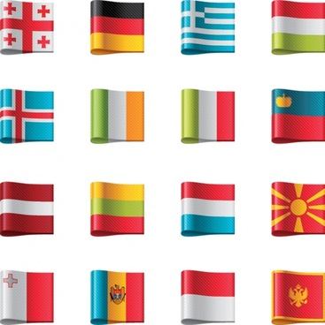 flag flag icon vector ribbon labels