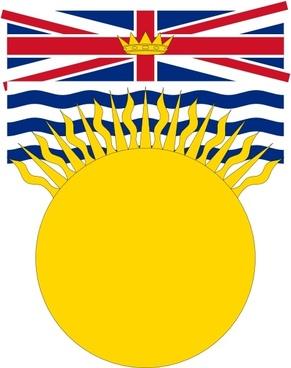 Flag Of British Columbia Canada clip art