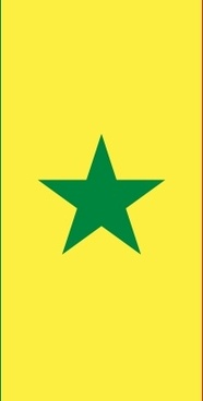 Flag Of Senegal clip art