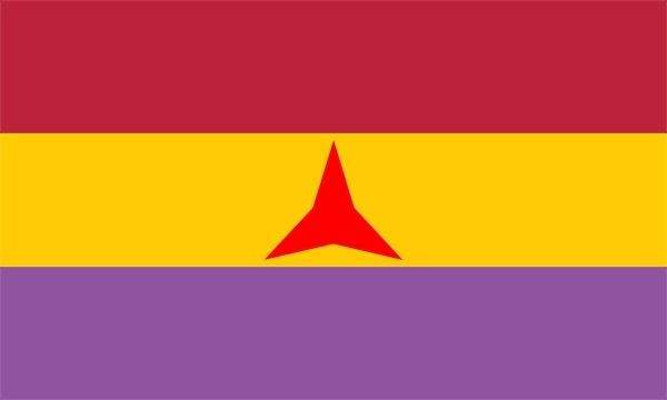 Flag Of The International Brigades clip art