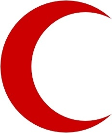 Flag Of The Red Crescent clip art