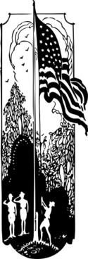 Flag Raising clip art