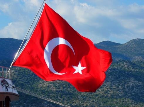 flag turkish turkey