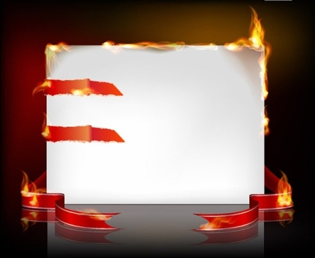 flame burning paper effect 03 vector