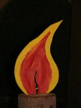 flame candle christmas