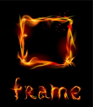 flame effect 02 vector