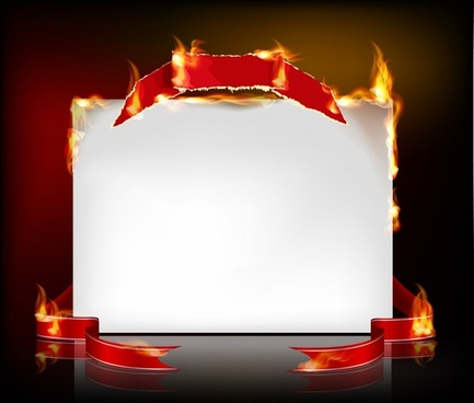 flame effect fire burning paper vector