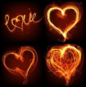 flame effect of romantic heartshaped highdefinition picture a