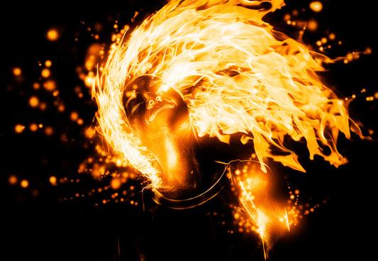 flame girl