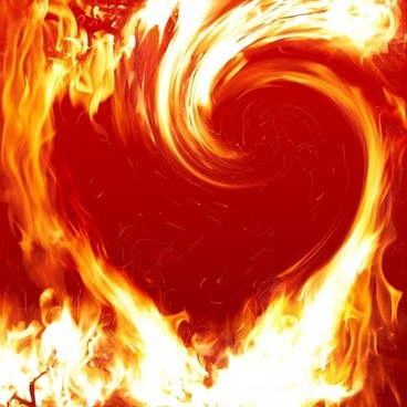 flame heartshaped picture