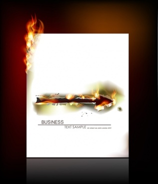 flame of burning paper effect vector