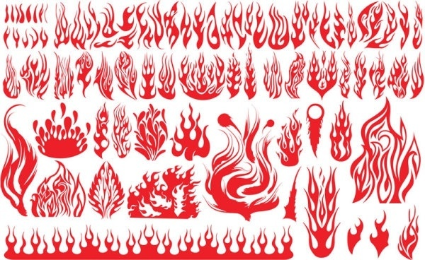 flame pattern vector