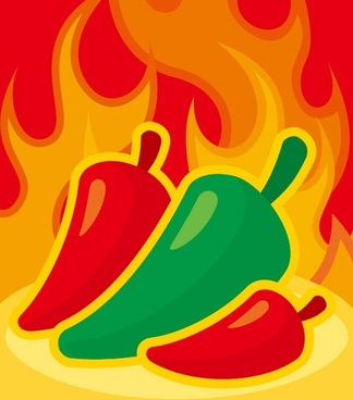 flame pepper vector