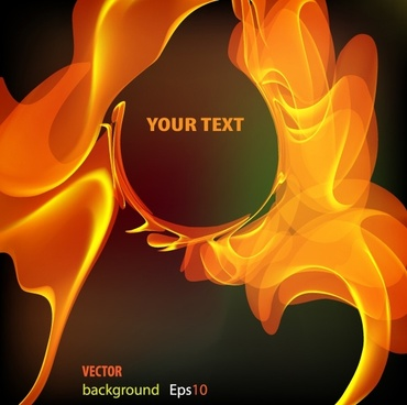 Flame text background vector
